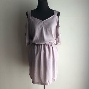 Lush sz L cold shoulder dress